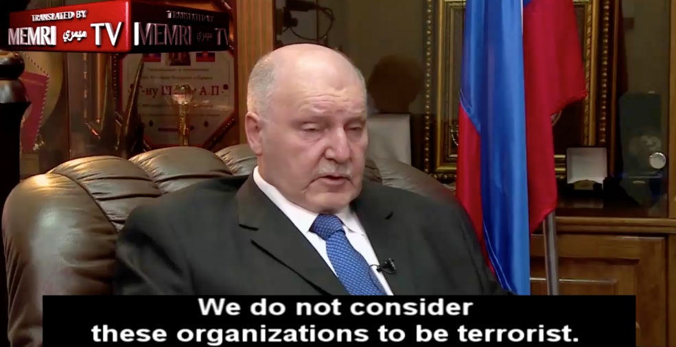 Russian Ambassador to Israel Alexander Shein, in a June 2017 interview (MEMRI screenshot)