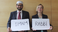 Left, Imam Qari Asim and right, Rabbi Esther Hugenholtz