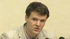 Otto Warmbier confessing to stealing a political poster in North Korea, Feb. 29, 2016. (Screenshot from YouTube)