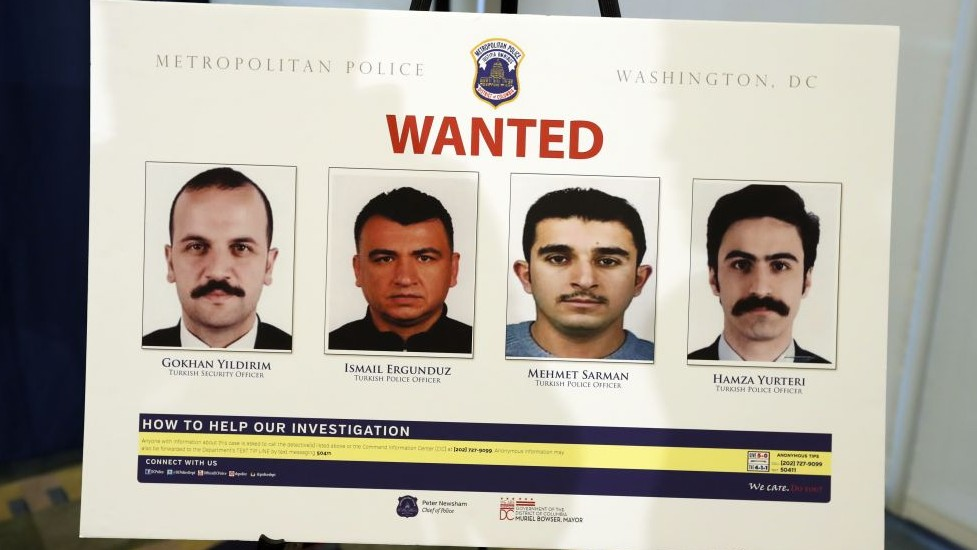 Arrest warrants out for Turkish agents in DC melee