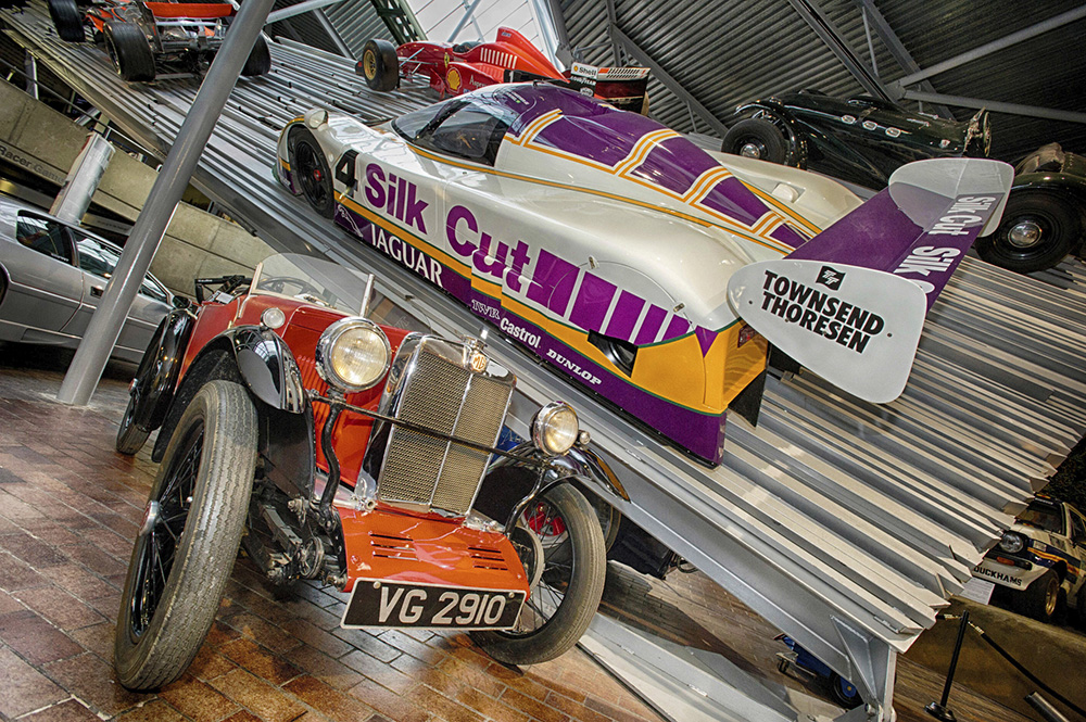 Cars at the Beaulieu Motor Museum