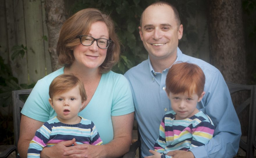 Rabbi Catherine Clark and her family