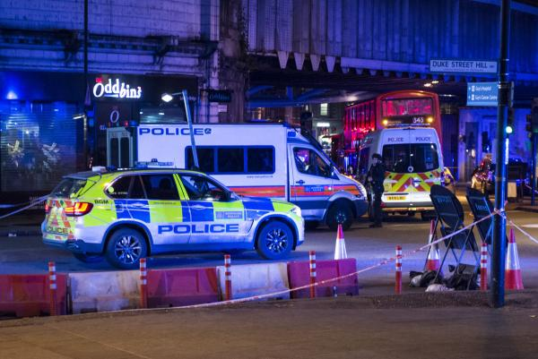 Police attending the scene following a deadly terror attack at London Bridge