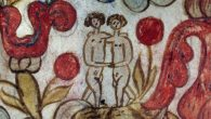 Adam and Eve depicted on a 19th-century ketubah