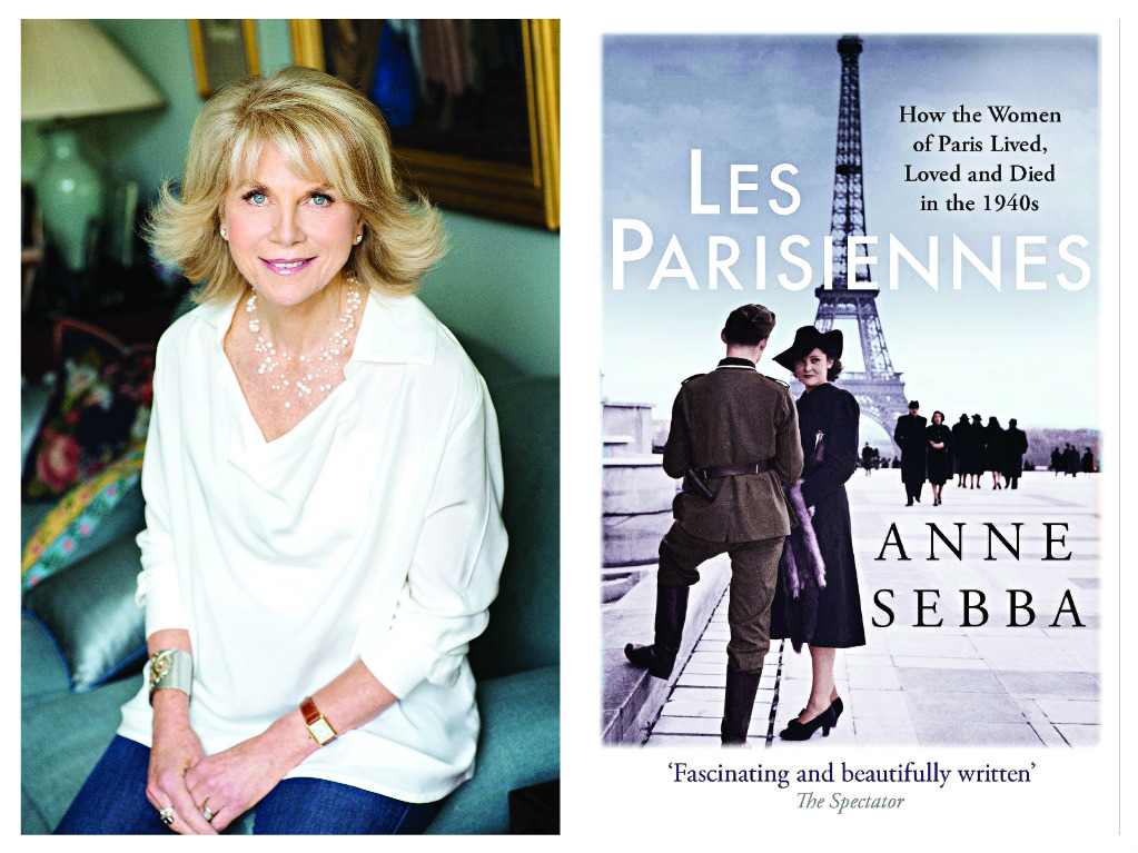 Anne Sebba with her book, Les Parisiennes