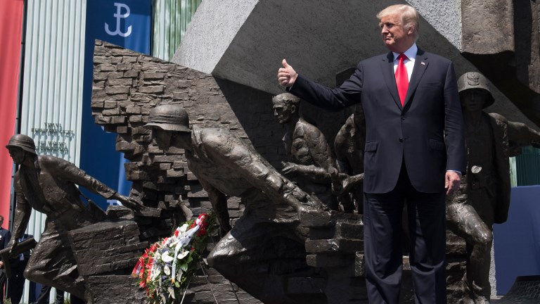 Image result for trump warsaw