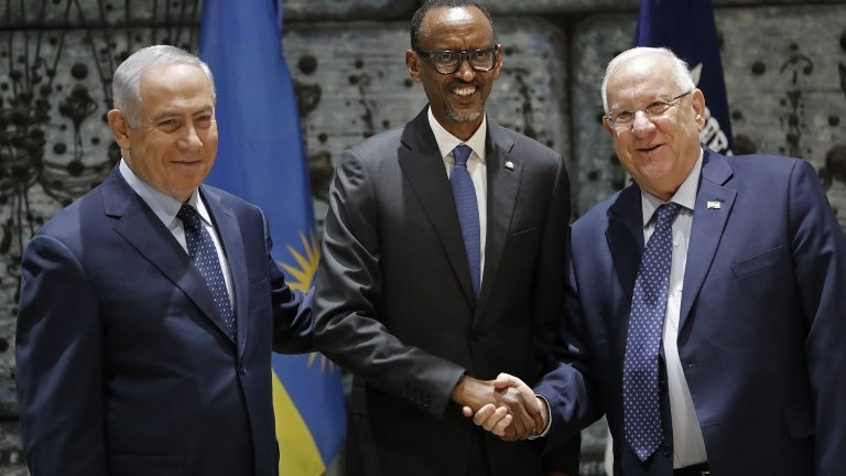 Rwanda's President Meets Israel's leadership In Jerusalem