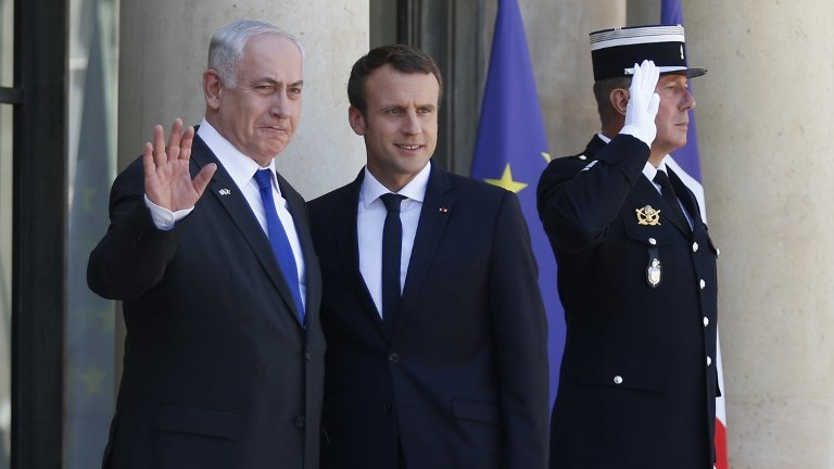 Antisemitism is still alive and well in France, Macron tells Israel