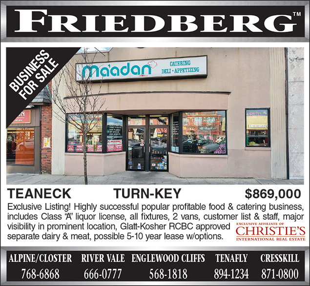 The advertisement for the sale of Ma'adan in Teaneck appearing in the June 23 issue of the Jewish Standard.