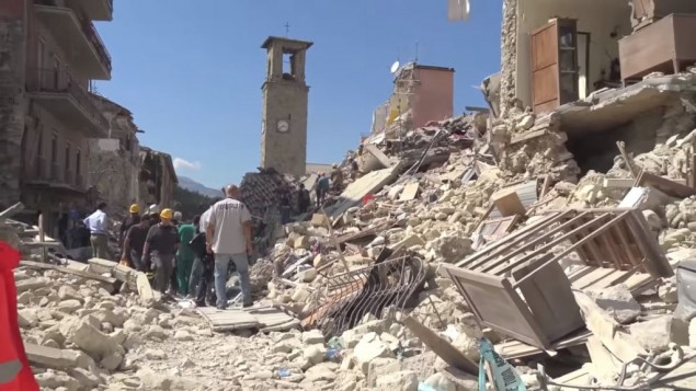 Amatrice town centre was destroyed by the earthquake