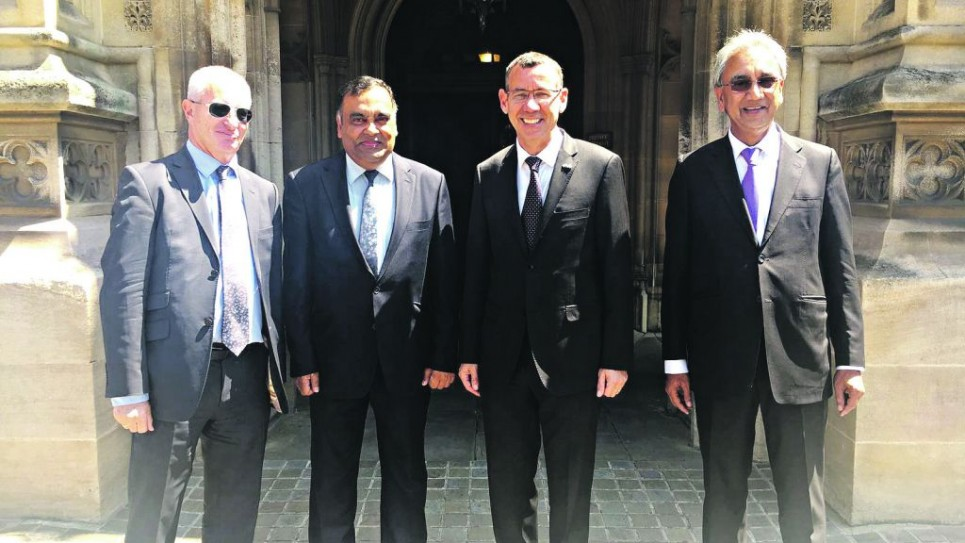 Lord Polak, Y K Sinha, Mark Regev, Lord Popat
