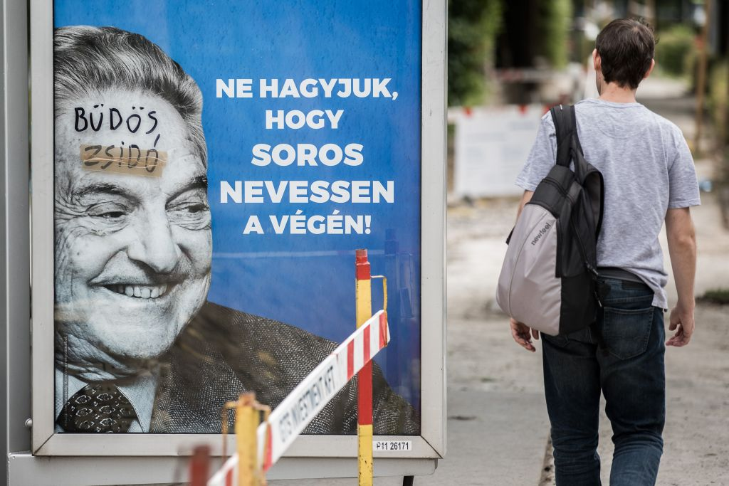 Hungary to take down controversial Soros posters ahead of Netanyahu visit