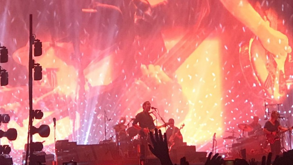 Radiohead performing in Israel