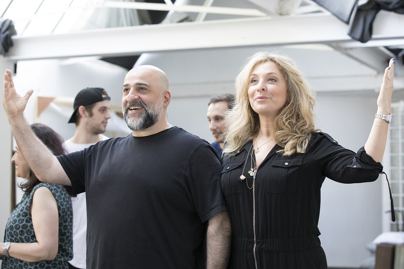 Omid Djalili with Tracy-Ann Oberman star in Fiddler On The Roof