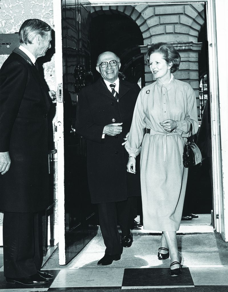 Margaret Thatcher hosts Menachem Begin in May 1979, shortly after her election victory