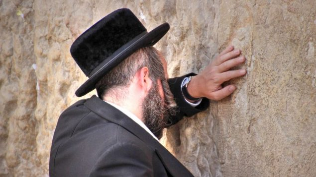 Hasidic Prayer at Western Wall