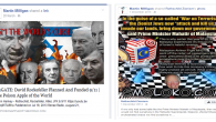 Activists linking to conspiracy theory sites, including ones that promote Holocaust denial