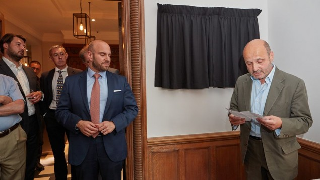 Otto Schiff Plaque Unveiling: David Rauch, Trustee of Wiener Library