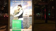 A poster in the Dutch city of Rotterdam