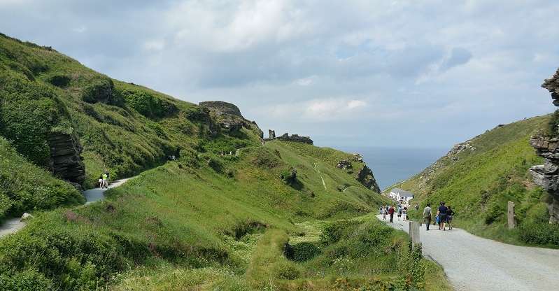The approach to Tintagel Castle
