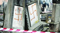 Desecrated Jewish graves