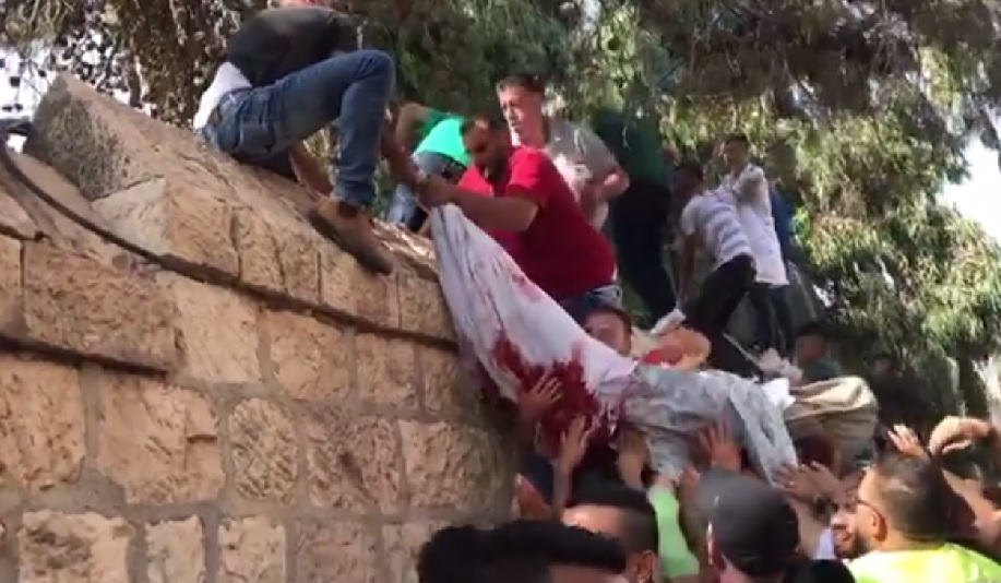 Jew Detector: WATCH: Body Of Palestinian Killed In Clashes Smuggled Out