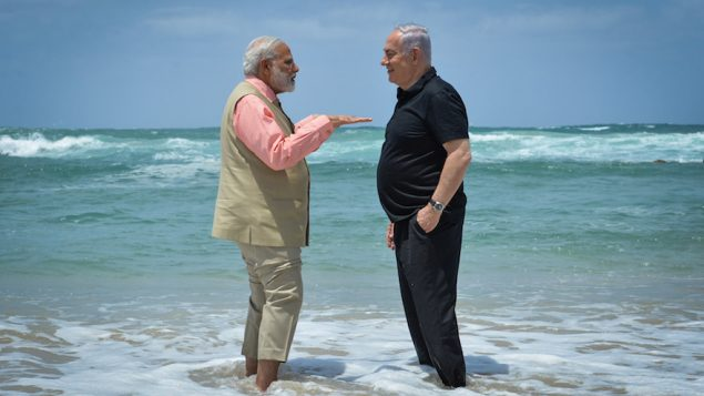 Prime Ministers Benjamin Netanyahu of Israel and Narendra Modi of India