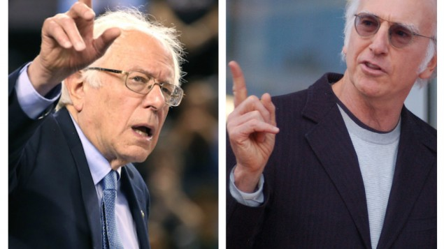 Bernie Sanders and Larry David