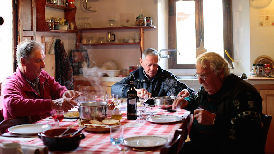 The brothers used local Italian food as fuel on their quest. (Tamar Tal Anati via JTA)