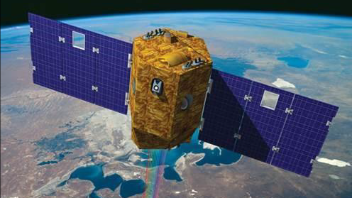 Artist's rendering of the Venμs satellite, Israel's first environmental research satellite, set to launch on September 2, 2017. (Israel Space Agency)