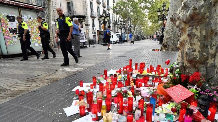 Hundreds of Muslims in Barcelona protest against terrorism after last week's attack