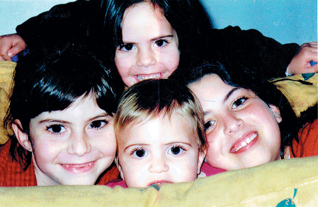 David and Tali's four daughters, murdered by terrorists in 2004.