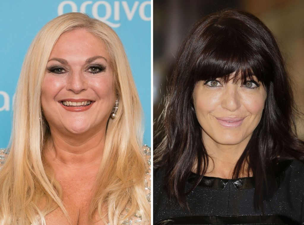 File photos of BBC presenters Vanessa Feltz (left) and Claudia Winkleman. Photo credit: PA Wire