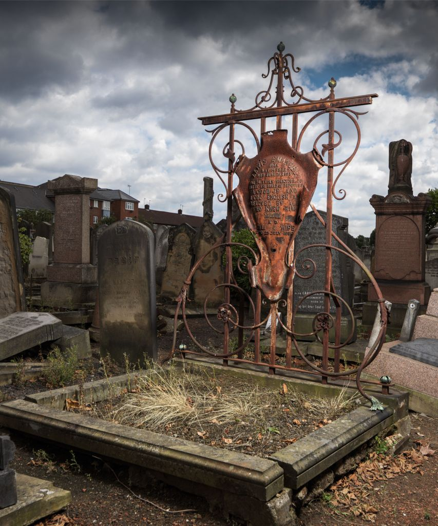 Funerary buildings at Willesden Jewish Cemetery, which is one of five places that have been listed at Grade II by the Department for Digital, Culture, Media and Sport, on the advice of Historic England, to celebrate the 70th anniversary. Photo credit should read: Chris Redgrave/PA Wire