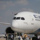El Al new aircraft, Boeing 787 Dreamliner arrives for a welcome ceremony after his landing at Ben Gurion International Airport, near Tel Aviv on August 23, 2017. Photo by: Nimrod Glikman - JINIPIX