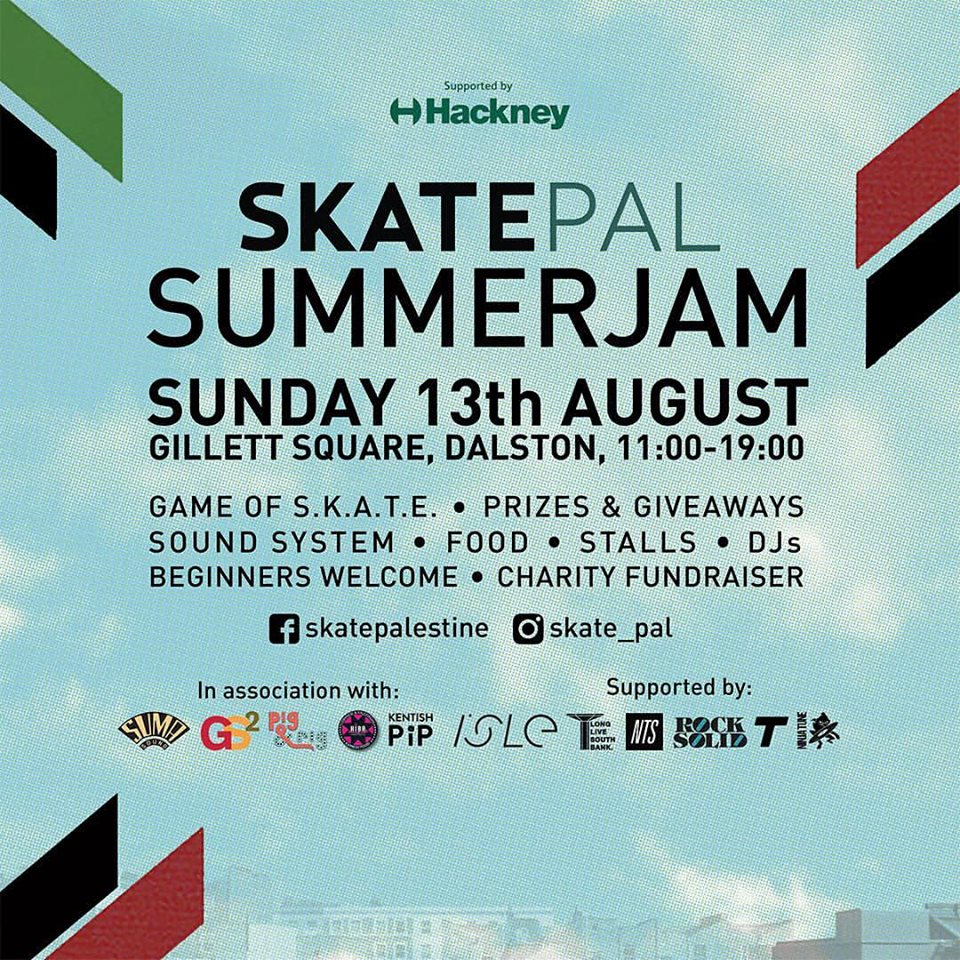 The SkatePal event in Dalston