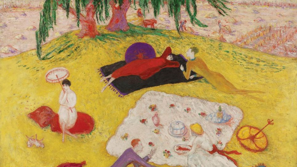 "A summer idyll: Stettheimer's ""Picnic at Bedford Hills."" Courtesy of The Jewish Museum"