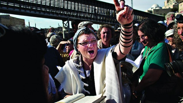Women campaigners for egalitarianism at the Western Wall