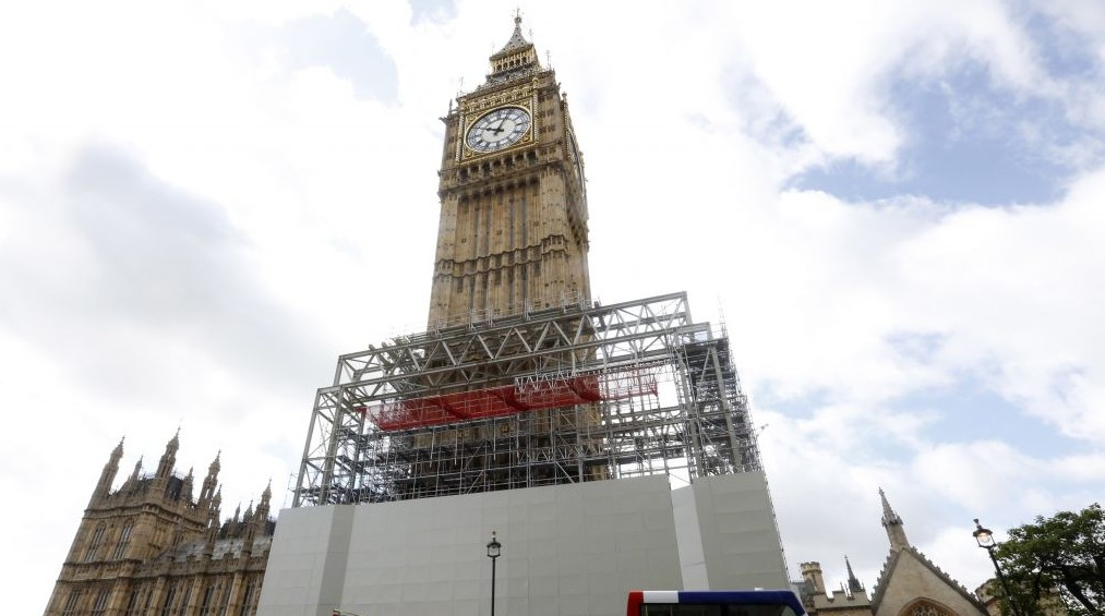 London's Big Ben falls silent until 2021