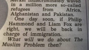A screenshot of the article, with the 'Muslim Problem' line at the bottom of the text