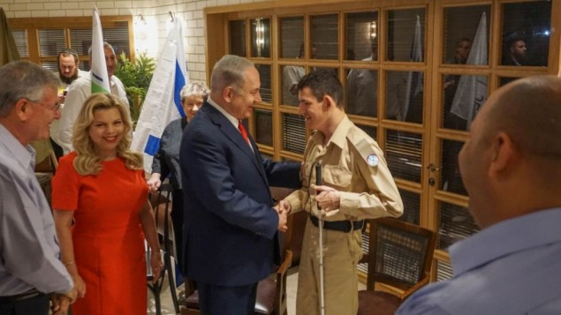 Daniel Defur, 18, meeting Israeli PM Bibi Netanyahu for the second time