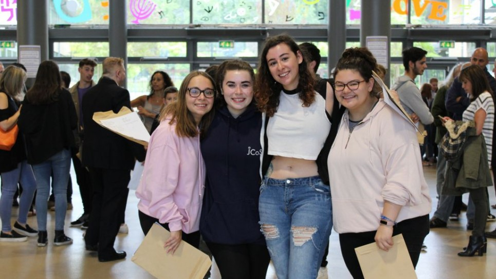 JCoSS students celebrating their results
