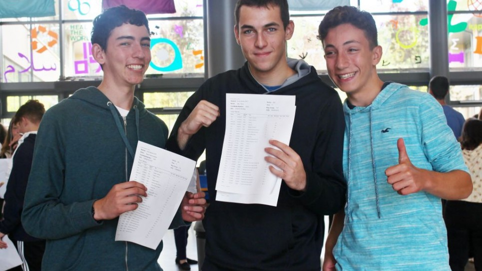 JCoSS students celebrate their results   Picture credit: TashPhotography