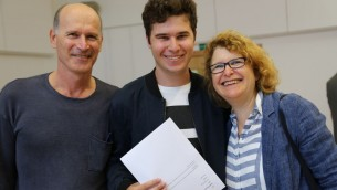 Raphael Korber-Hoffman and parents
