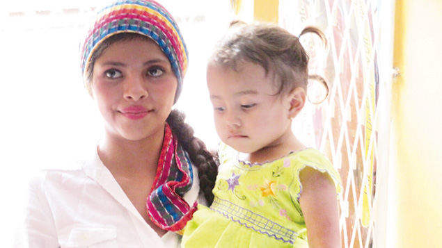 This woman and her young daughter were among the 114 people who converted to Judaism in Nicaragua last month.