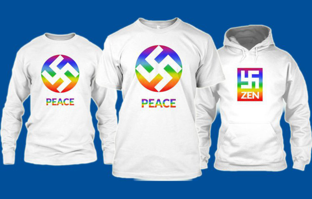 Clothing company yanks rainbow swastika T-shirt