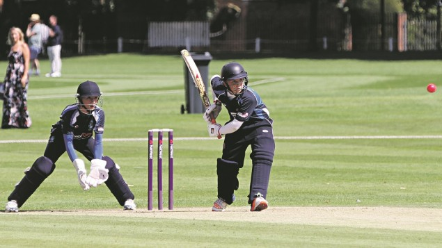 Oliver batting for Shenley on their way to winning the U13 National Championships