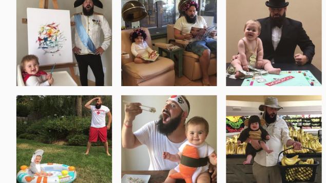 Some of the amusing Instagram posts taken by 'silliness enthusiast' Sholom Ber Solomon