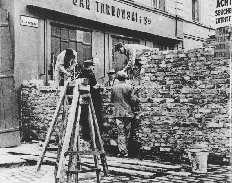 Building of part of the Warsaw Ghetto