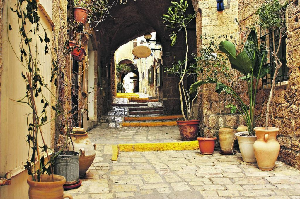 Pretty alleyways in Jaffa